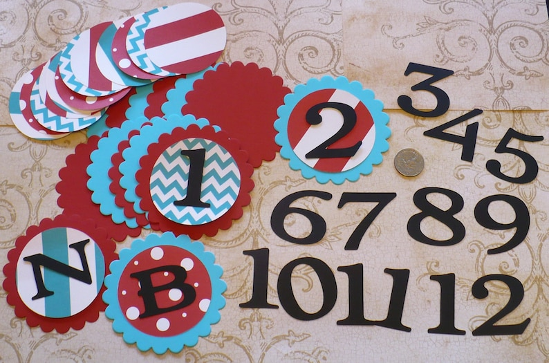 53d35850ea5e4 Thing 1 2 Dr. Suess Inspired Colors Scallop Circles Photo Picture Months  Birthday Banners Numbers NB 1 - 12 DIY Birthday Party 1 year old