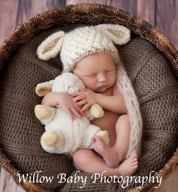READY Baby Lamb Hat Baby Boy Hat Baby Gril Hat Textured  0b53bae465a