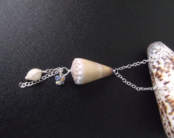 Short Sterling silver shell necklace