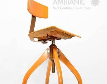 Mid Century Modern Industrial Office Chair