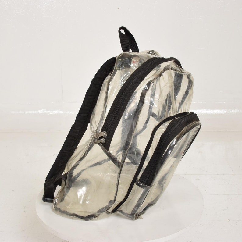 Voir En Transparent Plastique À Sac Nike TraversEtsy Vintage Dos XOukZwiPT