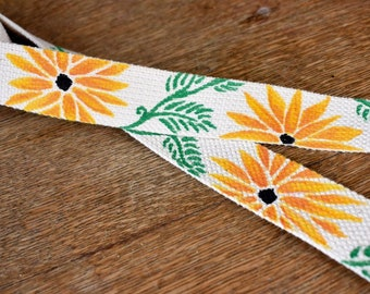 Daisy Chain Hand painted Yoga Strap