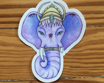 Ganesha Sticker Vinyl Die cut