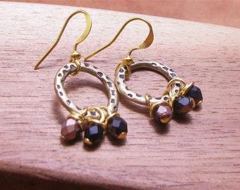Delicate Gypsy Hoop Beaded Earrings