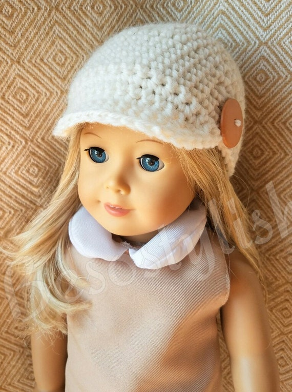 Crochet Pattern Doll Hat 18 Inch Doll Hat Doll Crochet Etsy