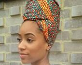 Christmas gift Headwrap turban african headtie wax print headscarf african print headwrap african headtie ankara headwrap