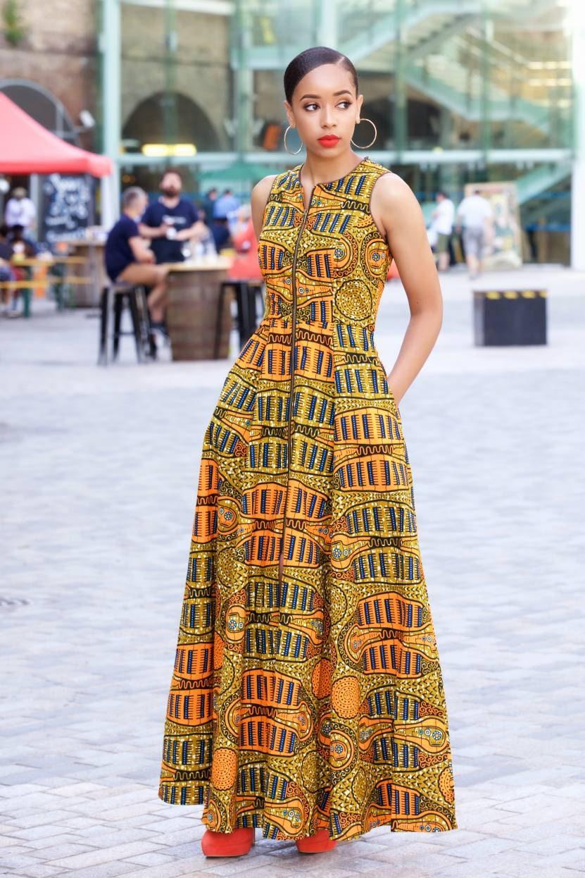 Ankara maxi dress/ african print maxi dress/ long african ...