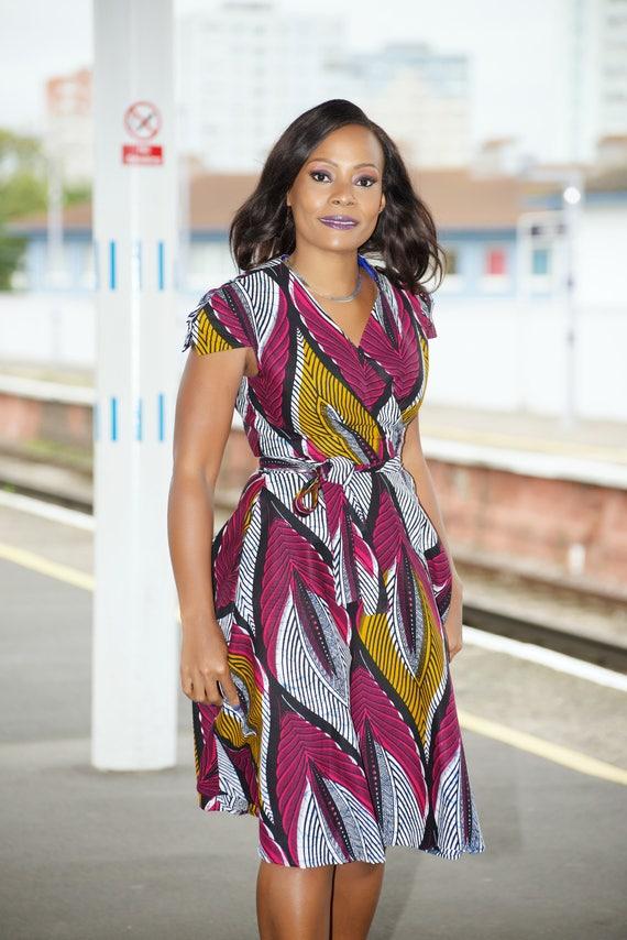 pink dress Queen dress Ankara dress African Wrap print dress african wrap wax wrap print print Pink dress wrap print dress 08wqwf