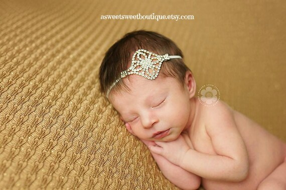 Newborn Wristlet And Headband Vintage Newborn Photo Prop Rhinestone Headbands Baby Rhinestone Headband Lace Gloves Christening Headbands