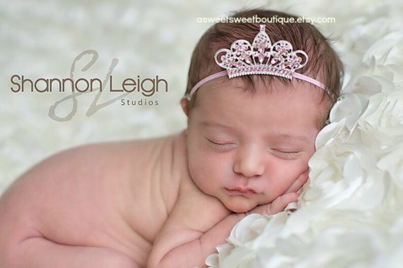 Pink Tiara Headband Baby Girl Tiara Headband Baby Crown Pink  3ce2365361a