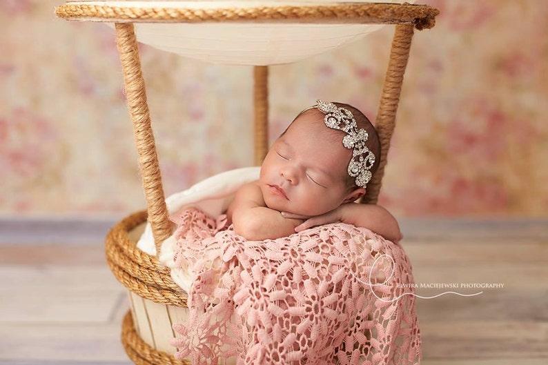 Baby Bling Rhinestone Headband Rhinestone Baptism Headband Gatsby Style Headband Gorgeous Baby Headband Baby Rhinestone Headband