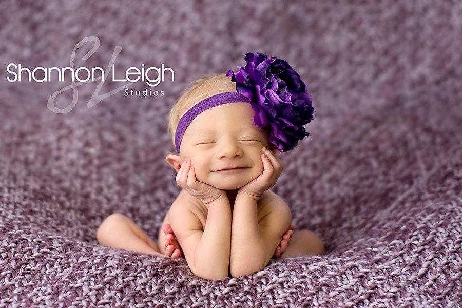Purple Baby Headband Flower Headband Baby Headbands Newborn  7af3b6f6c4f