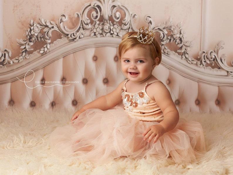 Toddler Crown First Birthday Crown Newborn Crown Baby Girl  b6b267c6f5ee