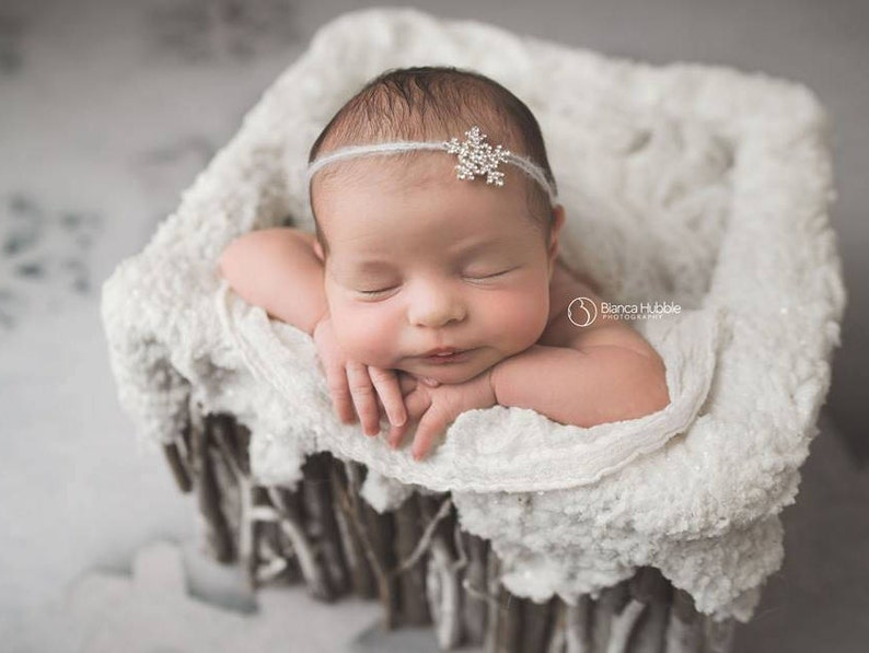 Newborn Snowflake Headband Baby Snowflake Headband Winter  a024f88dbef