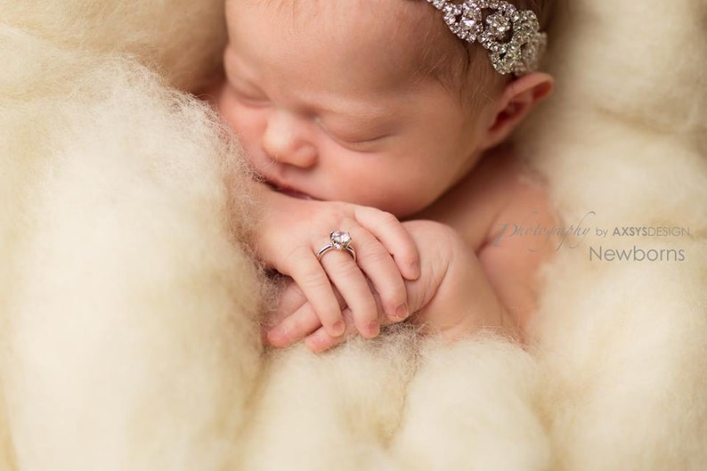 BABY GIRL JEWELRY Baby Ring Faux Diamond Ring For Baby Newborn image 0