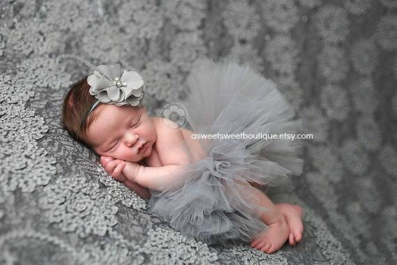 Gray Tutu Baby Tutu Newborn Tutu Baby Girl Tutu Grey Tutu Gray  32d8cb18bf0