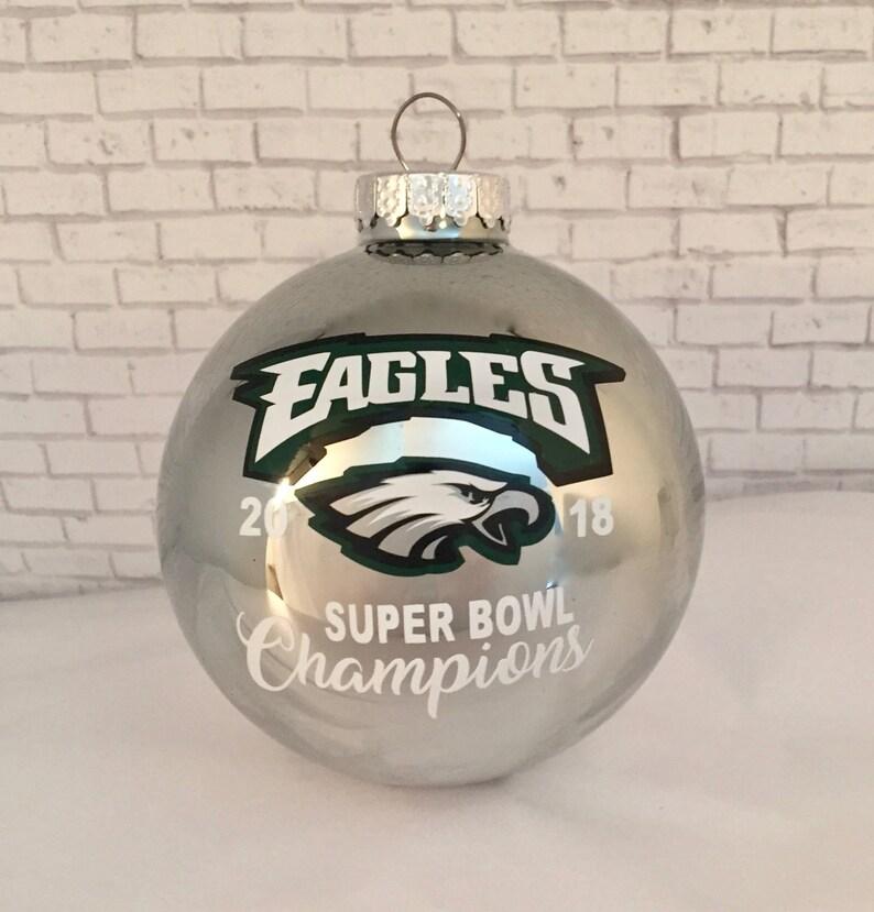 33939180f89 PHILADELPHIA EAGLES 2018 Super Bowl 52 Champions 80mm glass