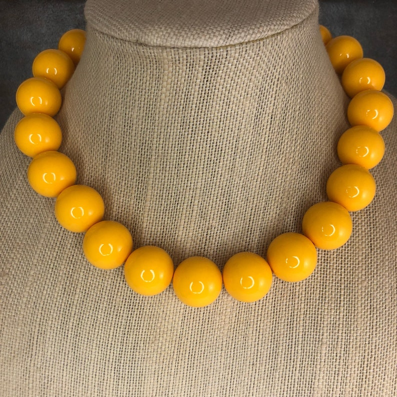 Mustard Yellow Hoop Fashion Necklace