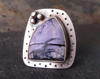 Tiffany Stone Ring in Sterling Silver - Size 6.5 - OOAK - One Of A Kind Ring