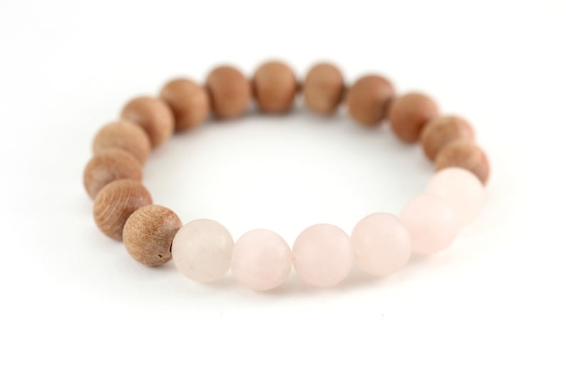 Rose Quartz Aromatherapy Bracelet Unconditional Love and image 0