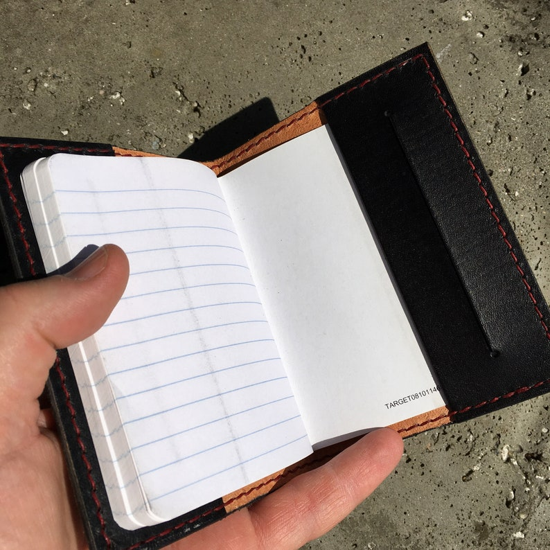 Black with Red Thread Pocket Journal
