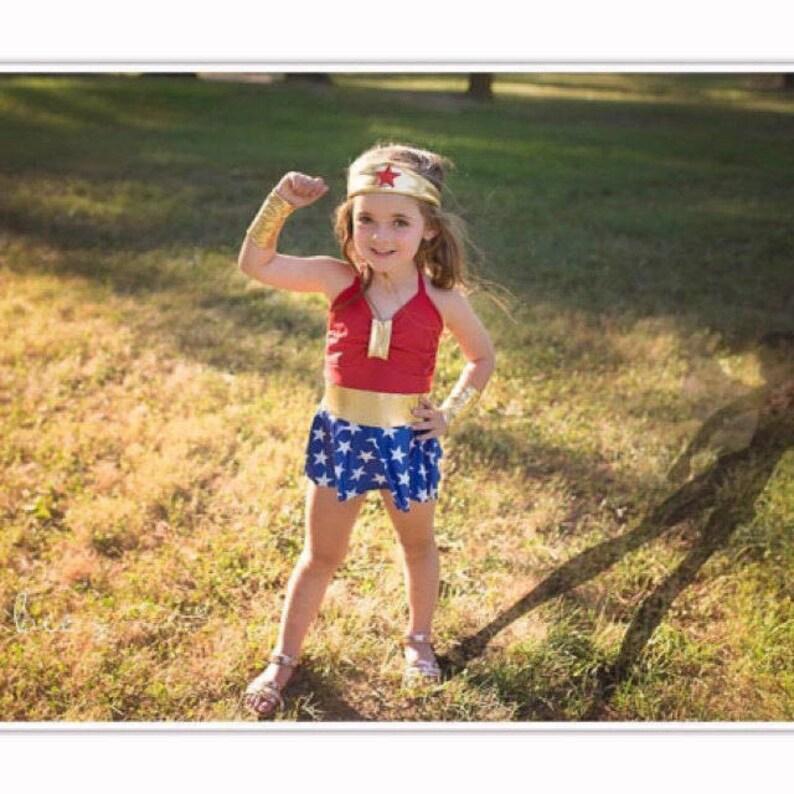 4027dbe00a2f2 Wonder Women Bathing Suit Infants Toddlers Girls | Etsy