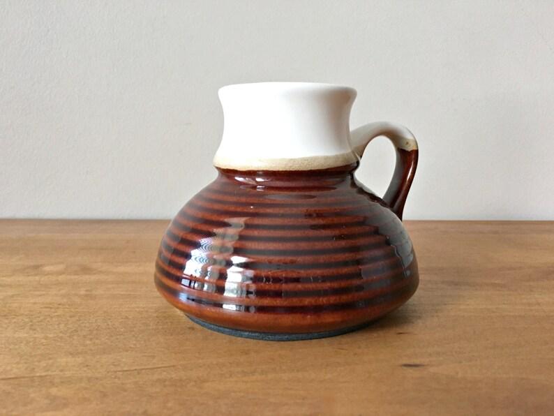 8e83e01e0e0 Vintage Travel Mug No Spill Clay Pottery Coffee Mug | Etsy