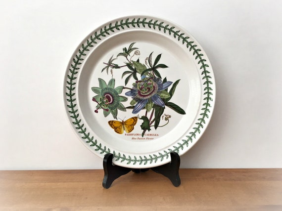 & Vintage Portmeirion Botanic Garden Dinner Plate Blue Passion
