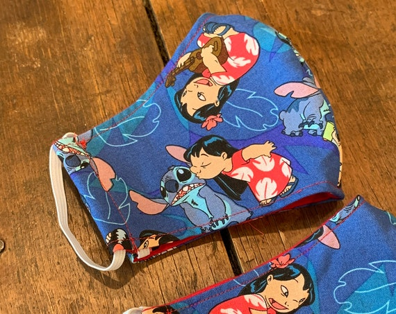 Lilo & Stitch Adult Double Layer Face Mask with Filter Pocket