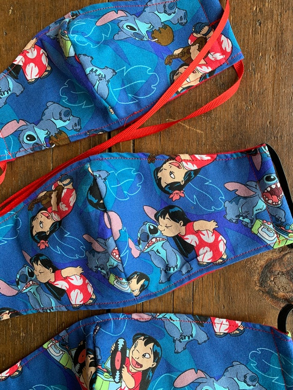 Lilo & Stitch Child and Adult Double Layer Face Mask with Filter Pocket