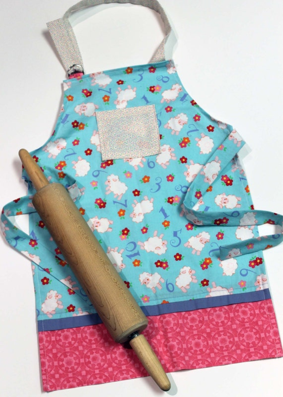 SALE Counting Sheep Kids Apron