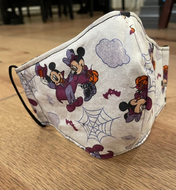 Classic Mickey Mouse Halloween Adult Double Layer Mask with Filter Pocket