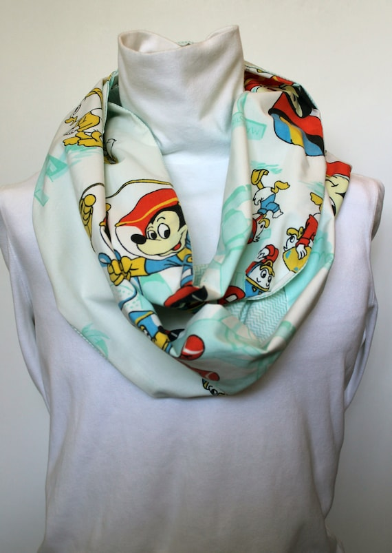 Vintage Disney Mickey Mouse Infinity Scarf