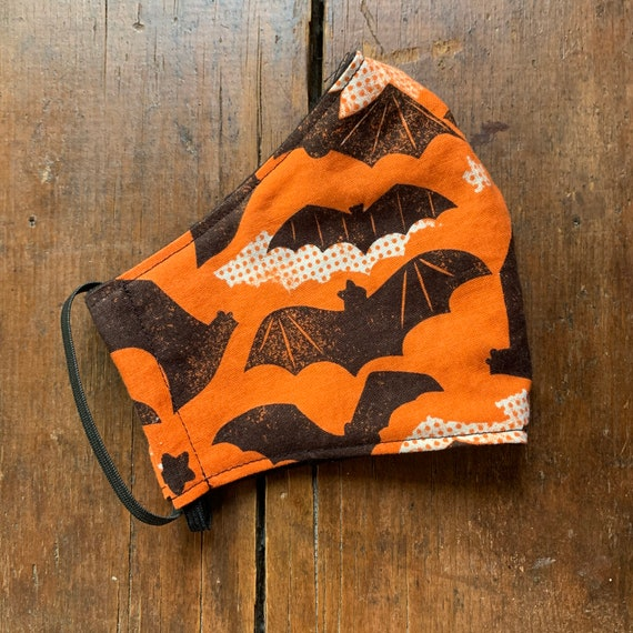 Halloween Bat Adult Double Layer Mask with Filter Pocket
