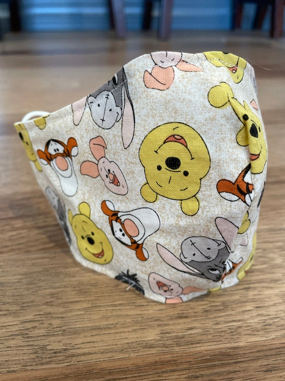 Winnie the Pooh Young Child's Double Layer Face Mask with Filter Pocket