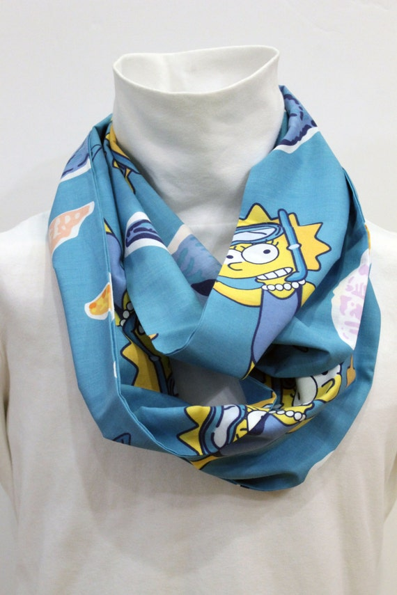 Upcycled Simpson's Infinity Scarf