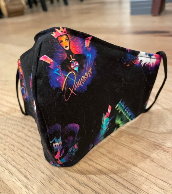 Disney Rock Star Villain's Adult Double Layer Face Mask with Filter Pocket