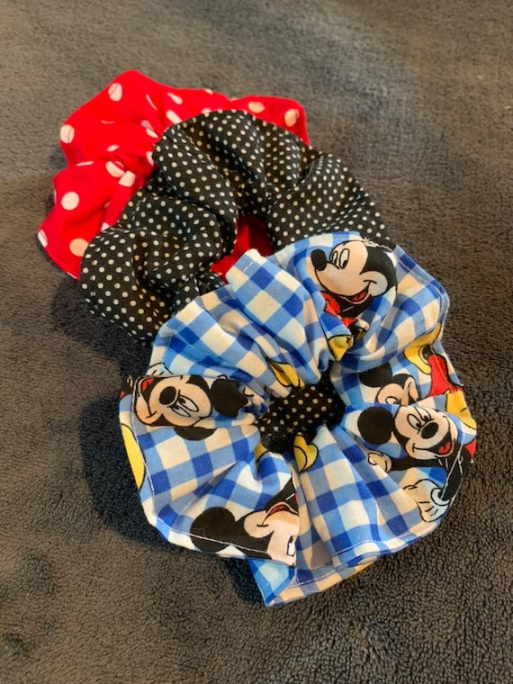 Mickey Mouse Hair Scrunchie SET