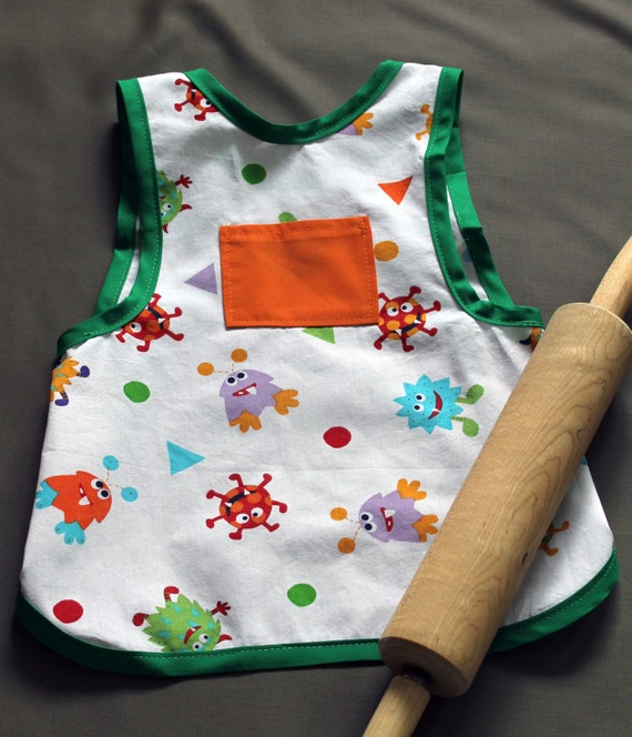 SALE Monster Child's Apron