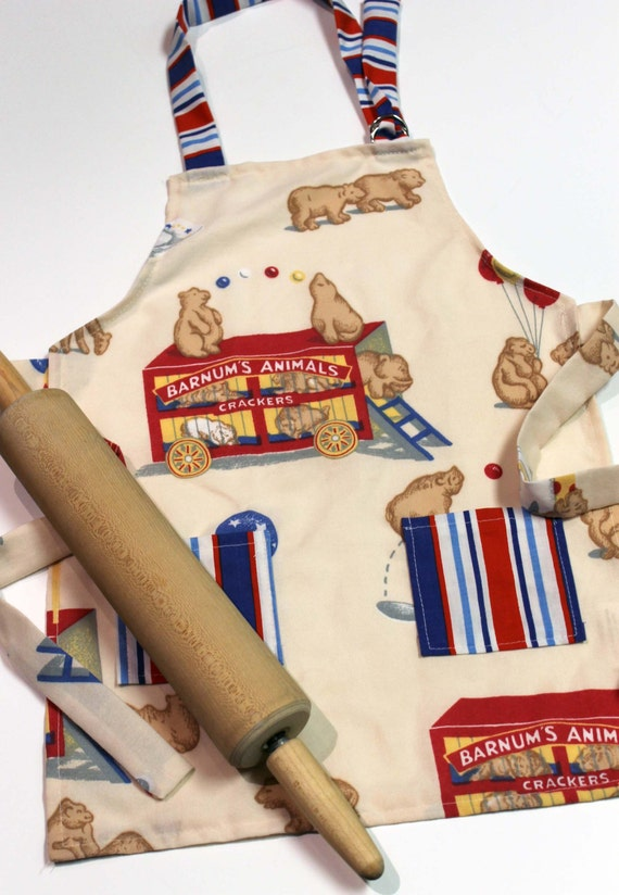 SALE Animal Crackers Kids Apron