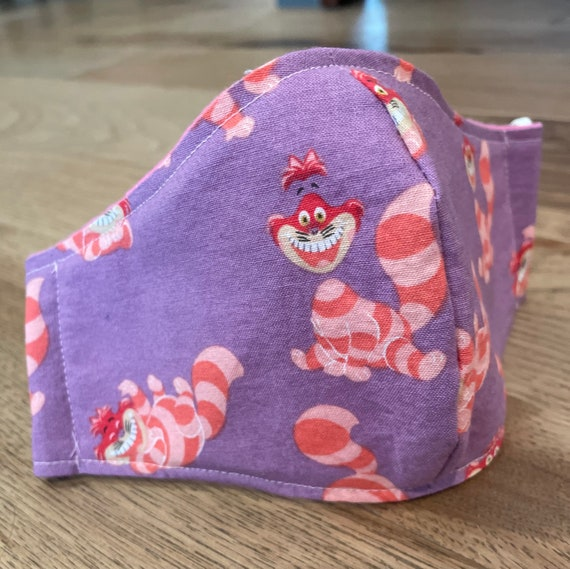 Cheshire Cat Young Child  Double Layer Face Mask with Filter Pocket