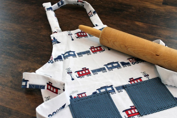 Train Child's Apron