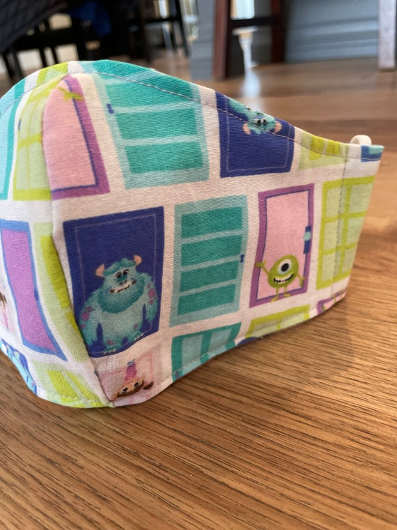Monsters Inc Adult Double Layer Face Mask with Filter Pocket