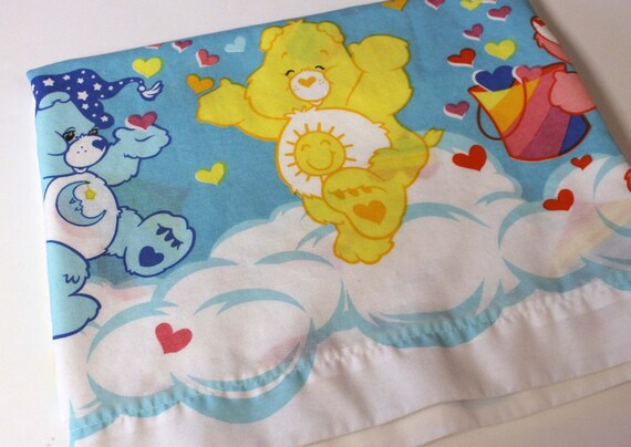 Vintage Care Bears Bed Sheet TWIN