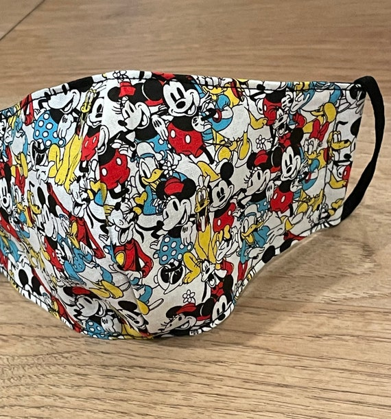 Classic Mickey and Friends Adult Double Layer Mask with Filter Pocket