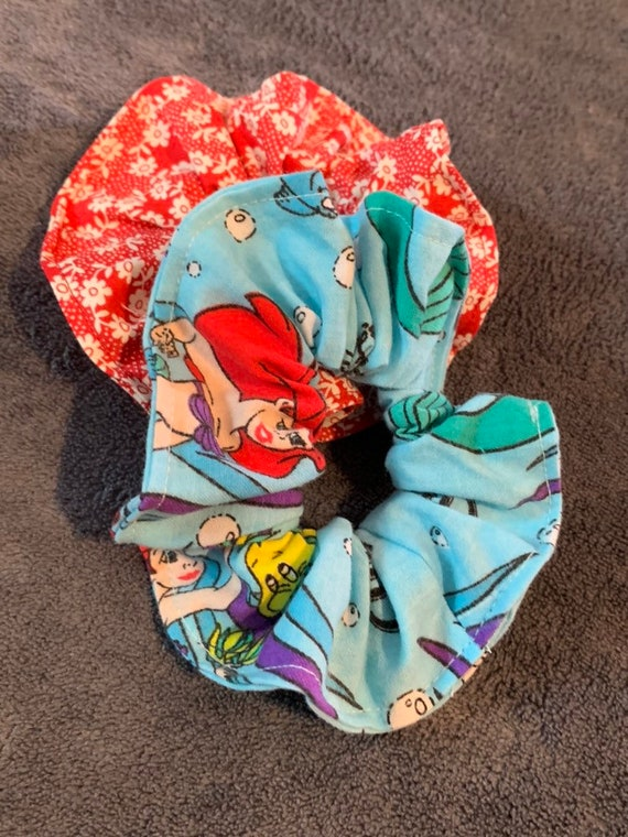 Disney Little Mermaid Hair Scrunchie SET