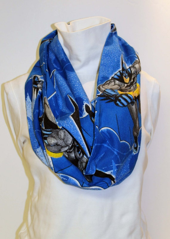 Recycled Batman Flannel Infinity Scarf