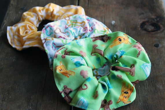 Puppy Dogs Hair Scrunchies SET