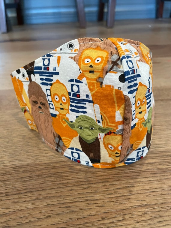 Star Wars Retro Young Child's Double Layer Face Mask with Filter Pocket