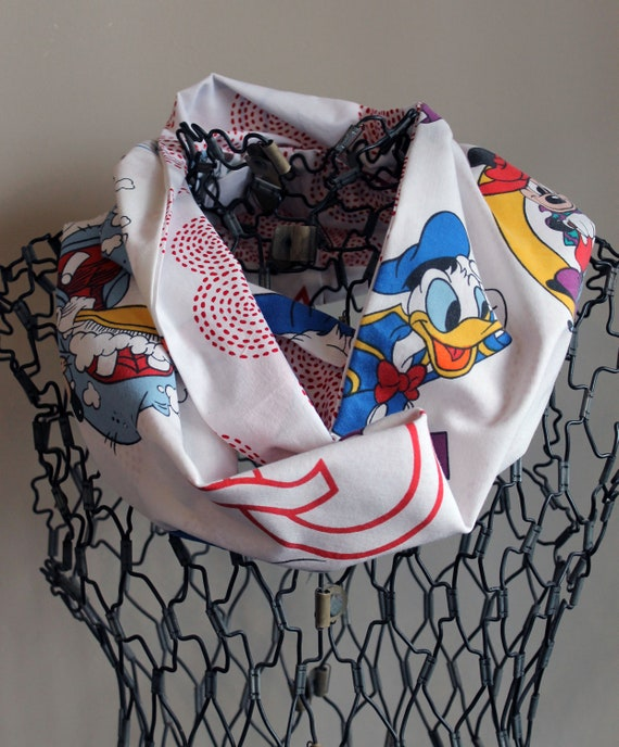 Disney Mickey Mouse and Donald Duck Infinity Scarf